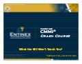 Entinex CMMI Crash Course with Agile Concepts