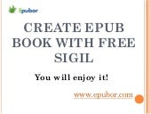 Create an epub with free sigil