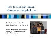 How to Send an Email Newsletter Peo...
