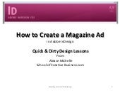 Creating an Magazine ad with Adobe ...