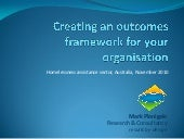 Creating an outcomes framework for ...