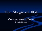 Creating Assets From Liabilities