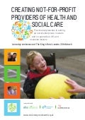 Creating Not For Profit Providers Of Health And Social Care