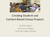 Creating student led content-based ...