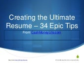 Creating the Ultimate Resume - 34 Epic Tips & Examples