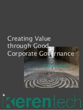 Creating Value Through Good Corporate Governance