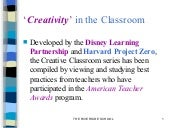 Creative classroom workshop
