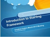 Creative Coders March 2013 - Introducing Starling Framework