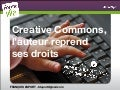 Creative commons, l'auteur reprend