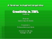 Creativity in tefl