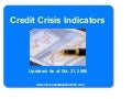 Credit Crisis Indicators Oct