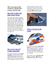 Credit Card Debts And How To Apply ...