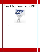 Credit Card Processing in SAP