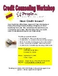 Credit Counseling Workshop Grundy Sept 11, 2012 - 10am - Noon NO COST