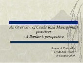 Credit Risk Management Presentation