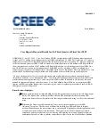 Q1 2009 Earning Report of Cree Inc.