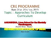 Approaches to Develop Curriculum fo...