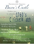 Bacon's Castle's 1760s Cricket Match