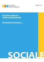 Crisiscommunicatie en sociale media...
