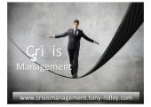 Crisis management.crisis leadership.training.tony ridley.part 1.09