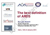 The best definition of ARDS