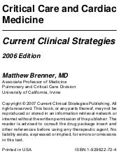 Critical care medicine brenner
