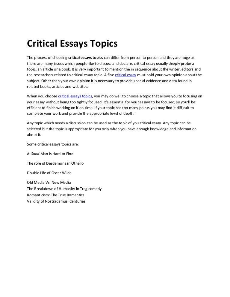 hard essay topics