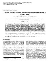 Critical Factors for New Product De...