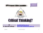 Critical Thinking, by Dr. Shadia Yo...
