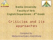 Criticism and its appoaches by muha...