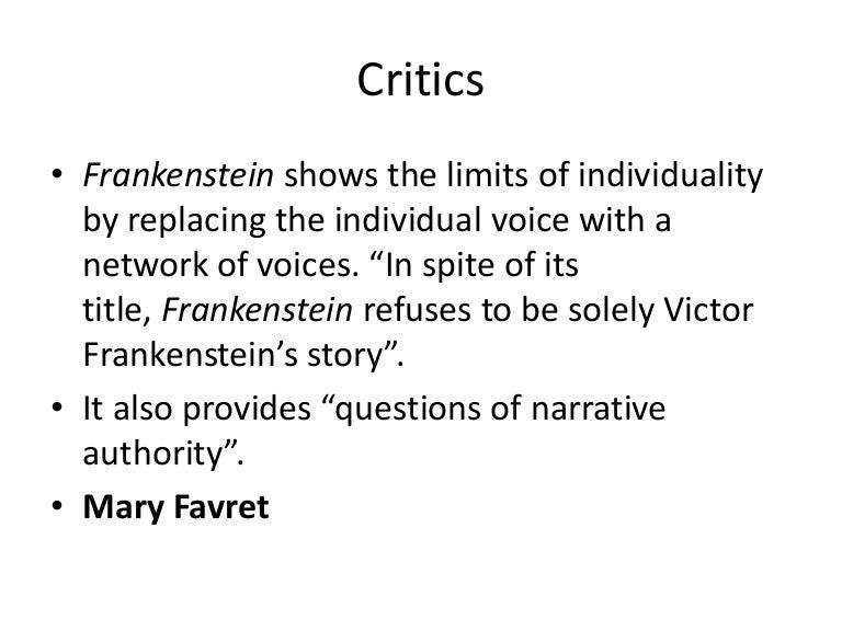 Frankenstein Critical Essay  Underfontanacountryinncom Frankenstein Critical Essay Comparison Essay By Brian Roberts On Prezi  Selection Criteria