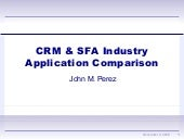 CRM, eService, and SFA Evaluation