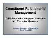 CRM Executive Overview