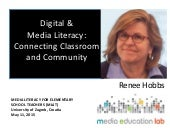 Media Literacy: Connecting Classroom and Culture