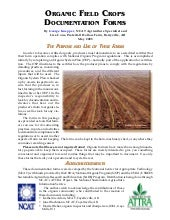 Organic Field Crops Documentation F...