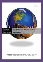 Cross Cultural Report on South Africa