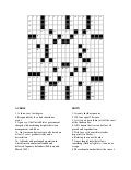 Crossword Puzzle 18x18
