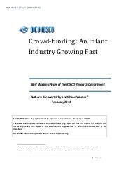 Crowdfunding an infant industry gro...