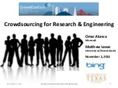 Crowdsourcing For Research and Engi...
