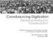 Crowdsourcing Digitization: Harness...