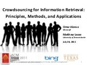 Crowdsourcing for Information Retri...