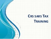 Crs sars tax training