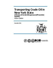 Status Report: Transporting Crude Oil in New York State