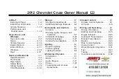 2012 Chevy Cruze Owner's Manual Bal...