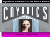 Cryonics - A Science Fiction
