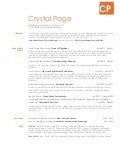 Crystal Page - Summer 2013 Resume