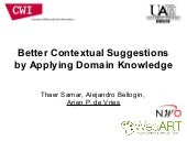 Better Contextual Suggestions by Applying Domain Knowledge
