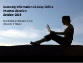 Assessing Information Literacy Online