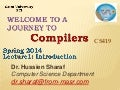 Cs419 Compiler lec1&2  introduction