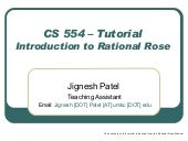 CS554 � Introduction to Rational Rose